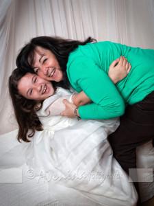 Raquel con Ainhoa