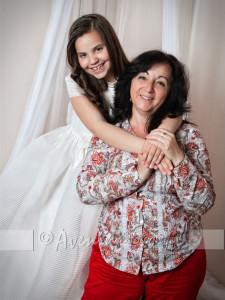 Marta con Raquel