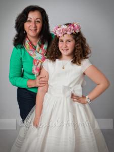 Raquel con Natalia