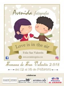 Cartel San Valentín 2018 face